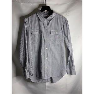 Athleta Button Down Tunic Length Shirt Size M